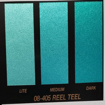 teal metallic paint